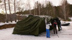 Армейская палатка Берег 10М1, 4.1м Х 5.25м, Каркас сталь (ОДНОСЛОЙНАЯ)