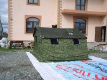Армейская палатка БЕРЕГ-5М2 4.1х3,5 м. (двухслойная, дно на молнии)