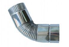Поворотное колено для дымохода d 0.80. Угол 45°