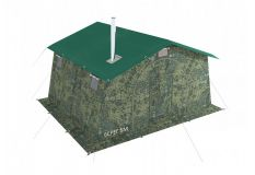 Армейская палатка БЕРЕГ-5М2 4.1х3,5 м. Каркас сталь (ДВУХСЛОЙНАЯ)