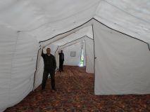 Армейская палатка БЕРЕГ-50М2 6х13,5 Каркас сталь (двухслойная)