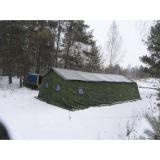 Армейская палатка БЕРЕГ-40М1 6х11,3. Каркас сталь (однослойная)