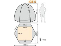 Палатка для зимней рыбалки Ice 5 O/Y