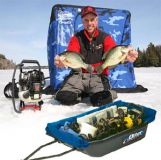 Тент-палатка для саней Medium Ice Camo (2436)