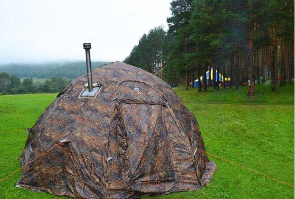 палатка баня берег
