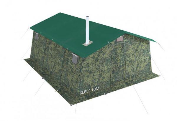 армейская палатка берег
