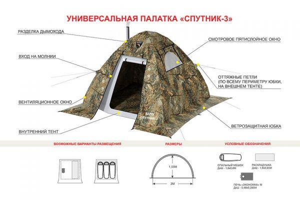 палатка Спутник 3