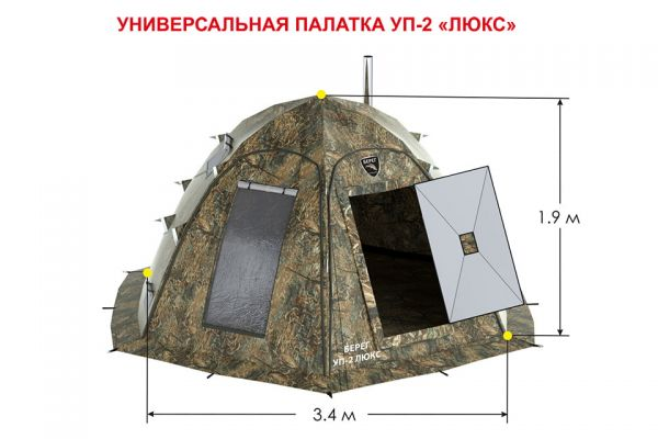 расположение лунок и печки в палатки уп2