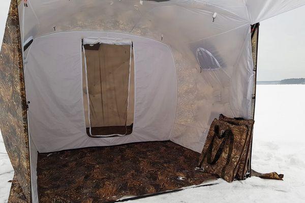 пол в палатку куб