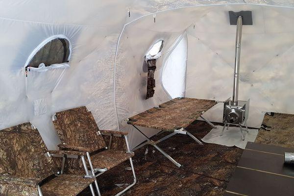 палатка печка