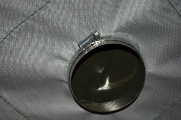 разделка дымохода армейской палатки 4М2