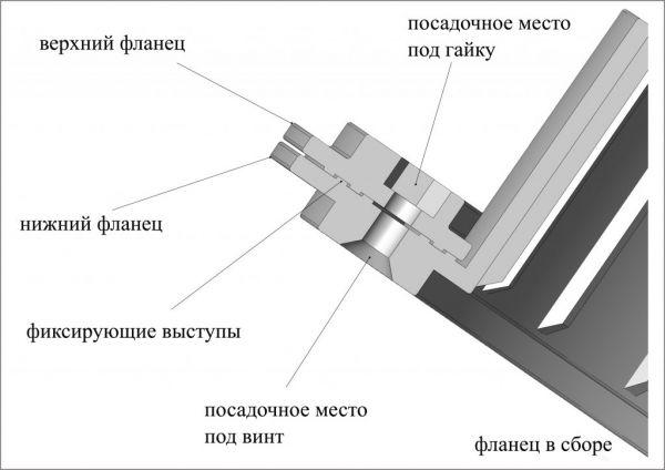 Фланец для отверстия под лунку «ЛОТОС 200
