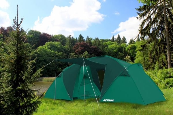 Палатка Фортуна 4, бирюзовая, 460х210х190 см