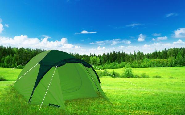Палатка Уран 3, зелёная, 320х215х130 см